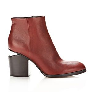 Alexander Wang dark red leather booties 39 8 8.5